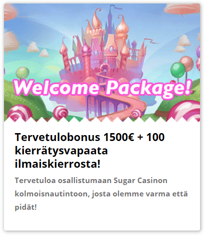 sugar casino welcome bonus